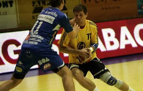 Házenkáři Zubří v utkání proti Drammenu.