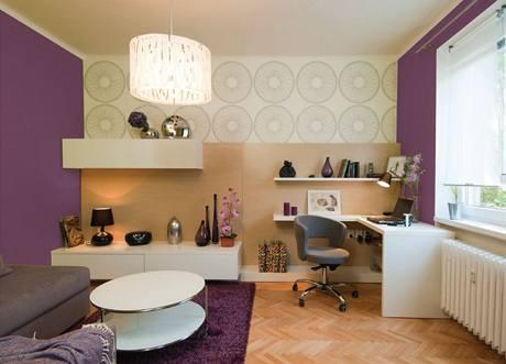 Obývací pokoj: fialová verze