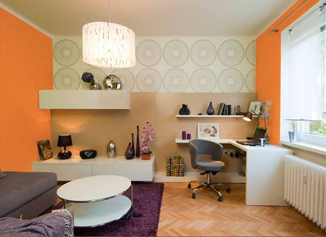 Obývací pokoj: oranžová varianta