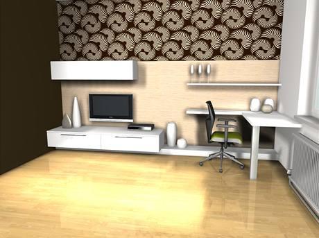 Varianty tapet v obývacím pokoji, vzor Lastura (Lavmi)