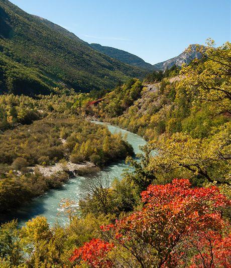 Řeka Verdon pod Castellane