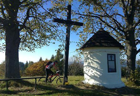 Strčková, kaplička nad Velkými Karlovicemi