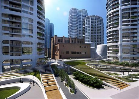 Projekt Čulenova společnosti Penta. V architektonické soutěži zvítězila Zaha Hadid
