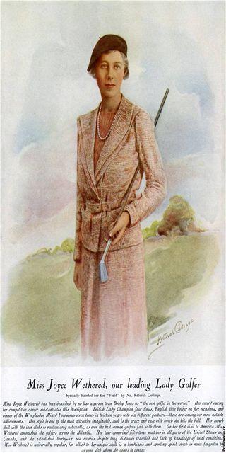 Ukázka dobového golfového oblečení z 20. let minulého století.