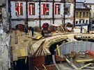 Stavba Horáckého divadla v květnu 1993