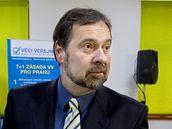 Radek John ve volebním štábu VV. (16. října 2010)