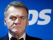 Bohuslav Svoboda ve volebním štábu ODS. (16. října 2010)