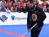 Hokejbalisté si to v nájezdech rozdali s hvězdami Bostonu a Phoenixu (na snímku David Krejčí)