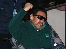 Vedoucí směny Luis Urzúa po své záchraně (14. října 2010)