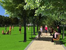 Studie rekonstrukce parku na Mikulášském náměstí v Plzni