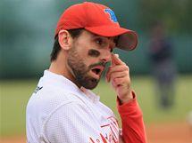 Finále baseballové extraligy opět ovládli AVG Draci Brno, na snímku Billy Hess, hrající trenér Techniky