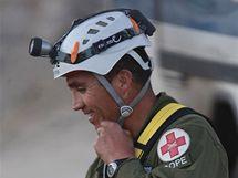 Patricio Sepulveda bude zřejmě jedním ze záchranářů, kteří budou spuštěni k zavaleným havířům (10. října 2010)