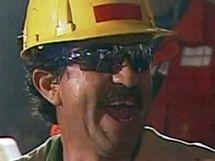 Třetí zachráněný horník Juan Illanes
