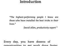Screenshot displeje: Čtení textu