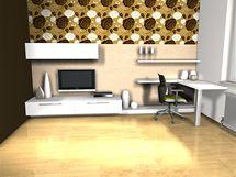 Varianty tapet v obývacím pokoji, vzor Rosa Gold (Lavmi)