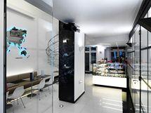 Moderní interiér podtrhuje černobílá bvarevnost