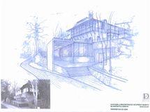 Architektonický návrh nové vstupní budovy do Mladečských jeskyní.