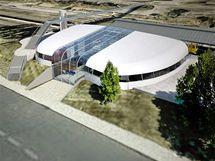 Vizualizace nové podoby horního nádraží v Karlových Varech.