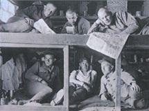 Ubytovací vagon vlaku československých legionářů.