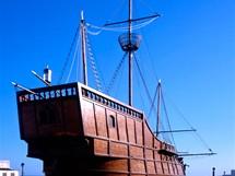 Replika Kolumbovy lodi, La Palma, Kanárské ostrovy