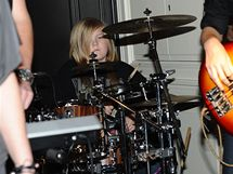 Artur Štaidl se představil jako bubeník