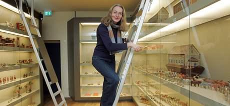 Nově otevřené muzeum hraček v saském Annabergu - Buchholzi. Ředitelka muzea Silke Kral.