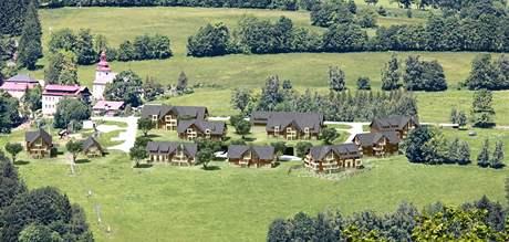 Takto by podle projektu měly vypadat nové obytné domy a penziony ve Vítkovicích v Krkonoších.