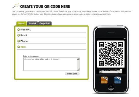 Aplikace pro vytvoření vlastního QR kódu