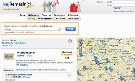 Web Nejremeslnici.cz vyhledává po celé republice
