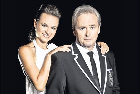 Alexander Hemala se svojí taneční partnerkou Jitkou Šorfovou.