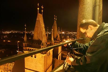 Noční vyhlídka z Bílé věže v Hradci Králové