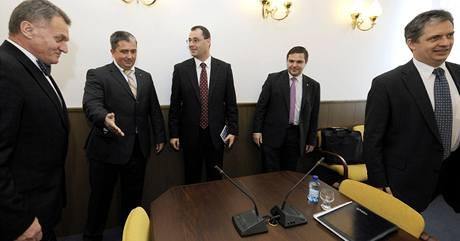 Z�stupci ODS a �SSD se setkali p�i jedn�n� o mo�n� koalici v Praze.