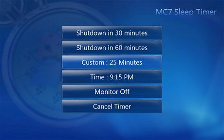 MC7 Sleep Timer