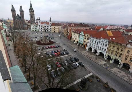 Pohled z kostela stávající