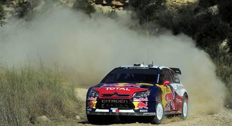 Sébastien Loeb na trati Katalánské rallye