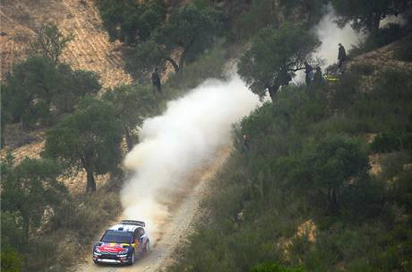 Sébastien Ogier na trati Katalánské rallye