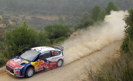 Dani Sordo na trati Katalánské rallye