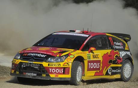 Petter Solberg na trati Katalánské rallye