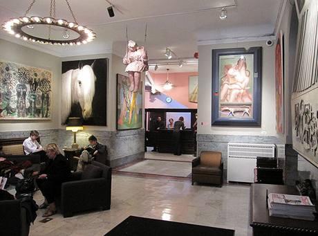 Lobby představuje slavnou galerii