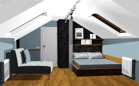 Podkrovní pokoj pro mladou studentku
