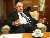 Bývalý ředitel Agrokombinátu Slušovice František Čuba.