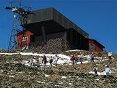 Vizualizace nové stanice lanovky na Sněžce