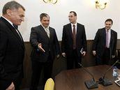 Zástupci ODS a ČSSD se setkali při jednání o možné koalici v Praze.