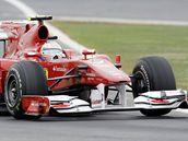 Fernando Alonso v kvalifikaci na Velkou cenu Koreje.