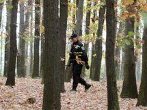Policisté a hasiči pokračují v pátrání po pohřešované Aničce v pražské Troji. (24. října 2010)