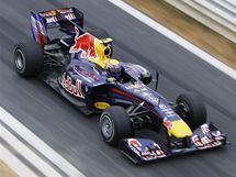 Mark Webber při kvalifikaci na Velkou cenu Koreje.