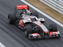 Jenson Button při kvalifikaci na Velkou cenu Koreje.