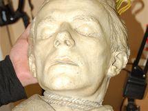 Posmrtná maska vraha Josefa Kolinského, kterou zhotovil patolog A. Billich