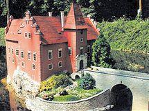 Červená Lhota, národní kulturní památka z jihu Čech.