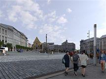 Návrh nové podoby olomouckého Dolního náměstí.